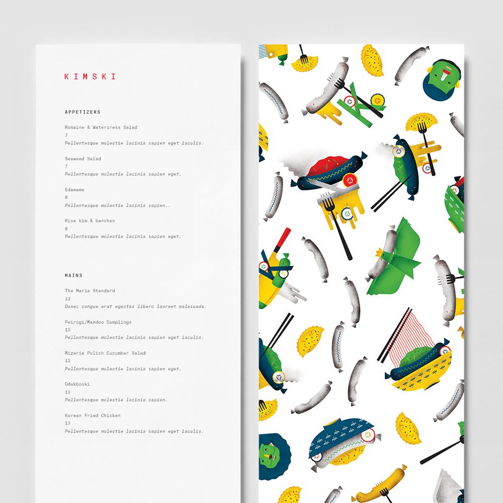 Kimski menu