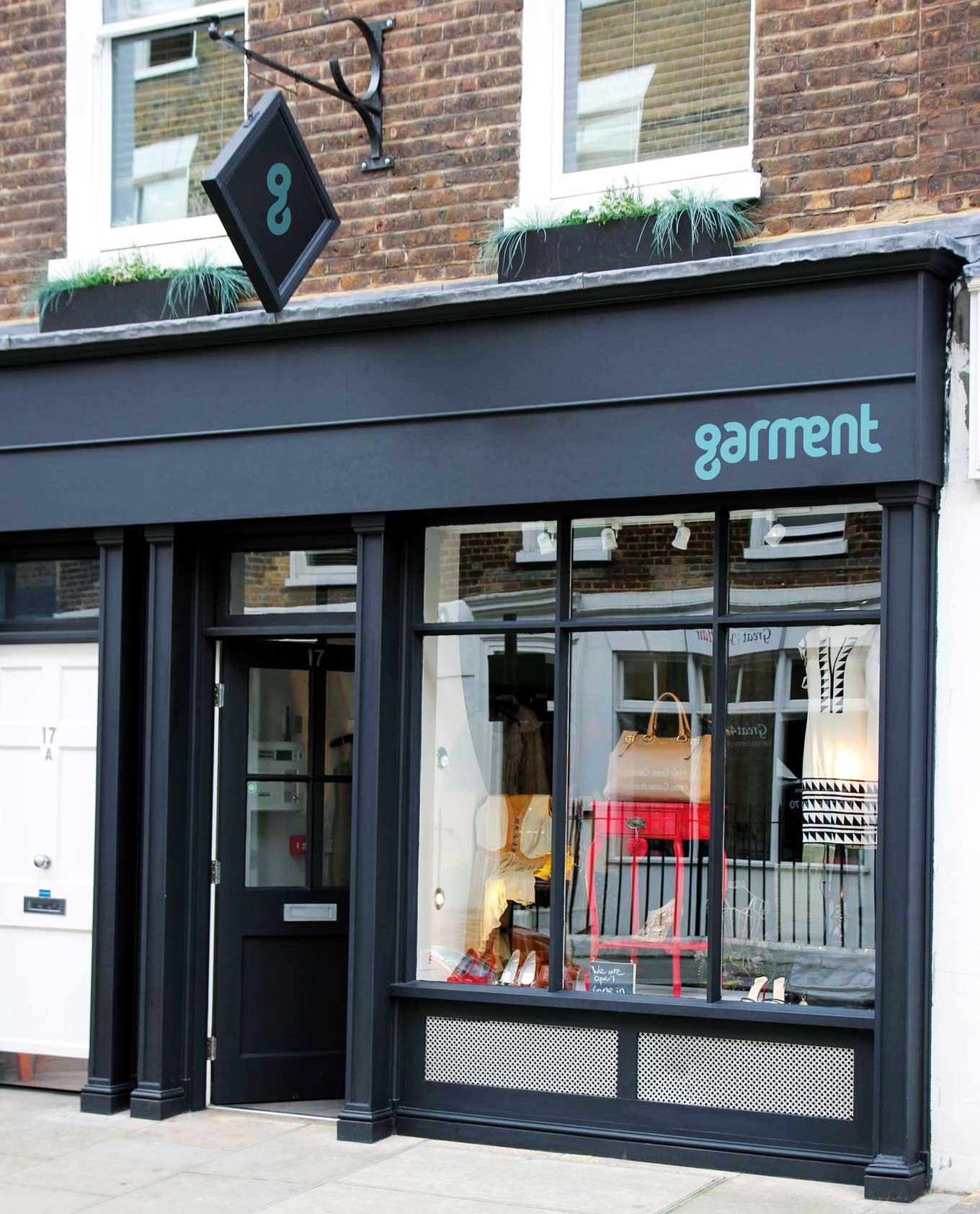Garment shop front