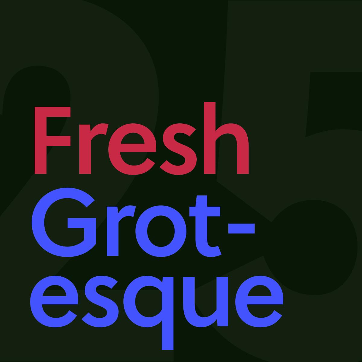 25 fresh grotesque sans-serif typefaces | rorymacrae co uk