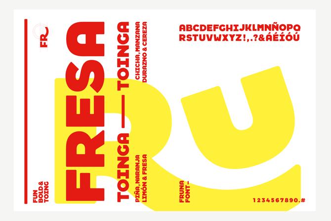 Fruna typography