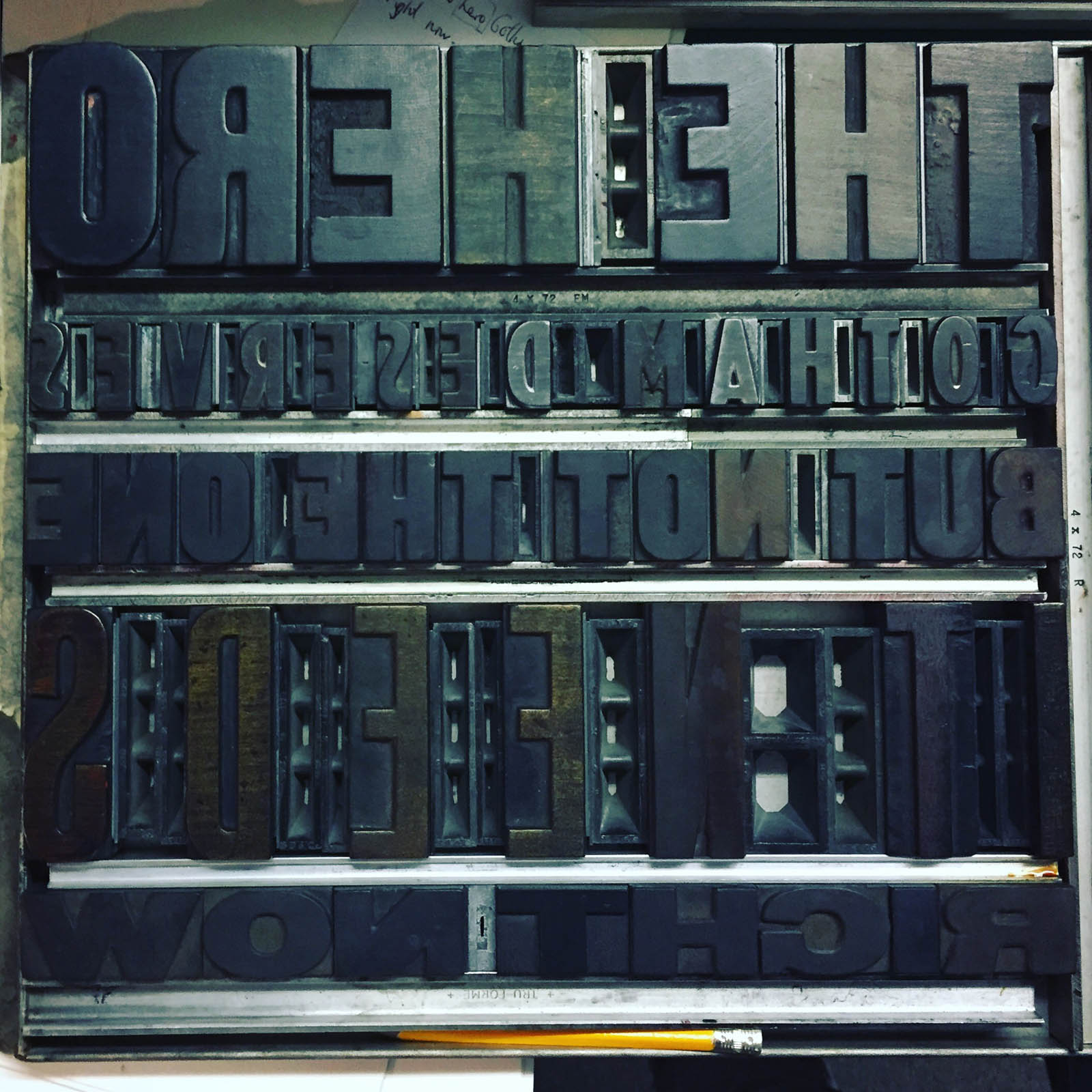 Letterpress build